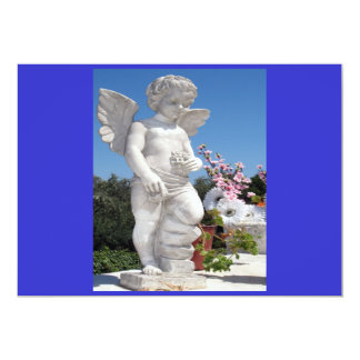 Angel Statue In Blue And Grey I Personalized Invitations