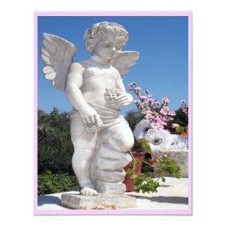 Angel Statue In Pink And White III Custom Invitations