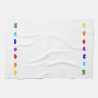Angenehmes Palette ~~ mehrfarbige Collage Handtuch