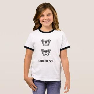 Angesagte angesagte Hooray Anatomie-Mitteilung Ringer T-Shirt