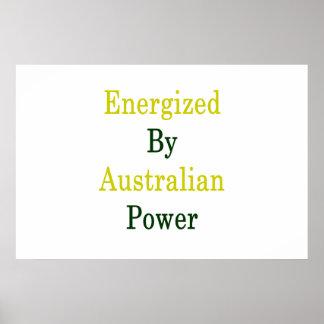 Angezogen durch australischen Power Poster