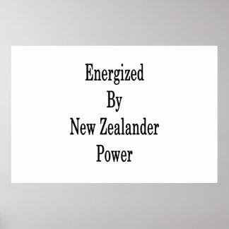 Angezogen durch neuseeländischen Power Poster