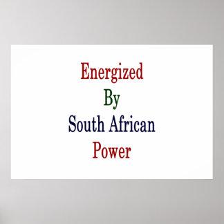 Angezogen durch südafrikanischen Power Poster
