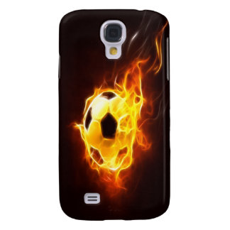 Angezündeter Fußball Galaxy S4 Hülle