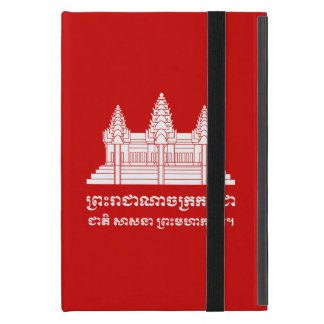 Angkor Wat Kambodschaner/Khmer-Flagge mit Motto iPad Mini Schutzhülle
