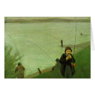 Angler auf dem Rhein bis August Macke Grußkarte