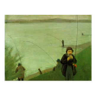 Angler auf dem Rhein bis August Macke Postkarte