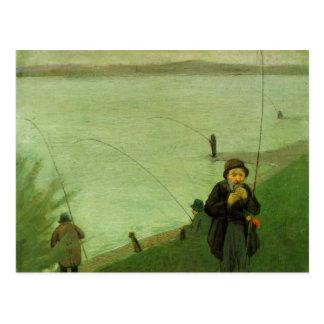Angler auf dem Rhein bis August Macke Postkarten