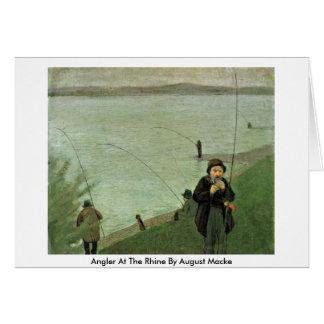 Angler beim Rhein bis August Macke Grußkarte