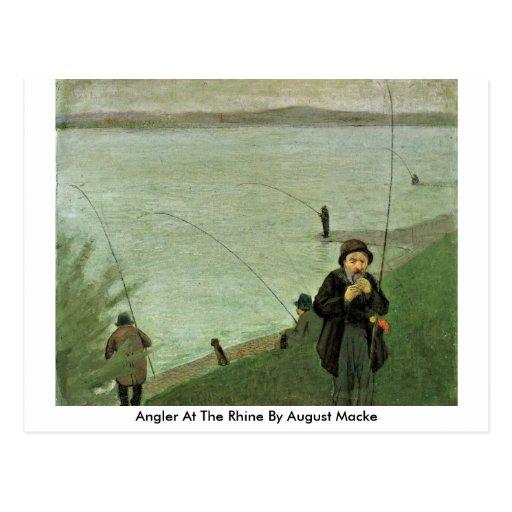 Angler beim Rhein bis August Macke Postkarte