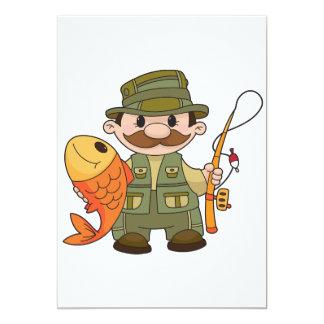 Angler-Einladungen 12,7 X 17,8 Cm Einladungskarte