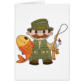 Angler-Gruß-Karten Karte