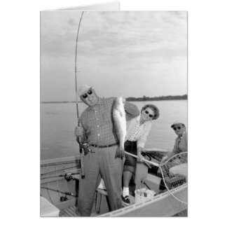 Angler mit Rotbarschen, Marco Insel, Florida 1959 Grußkarte