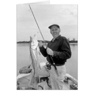Angler mit Snook, Marco Island, Florida, 1959 Grußkarte