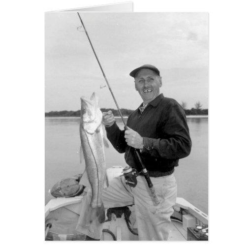 Angler mit Snook, Marco Island, Florida, 1959 Grußkarten