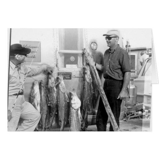 Angler mit Snook, Marco Island, Florida, 1965 Grußkarten