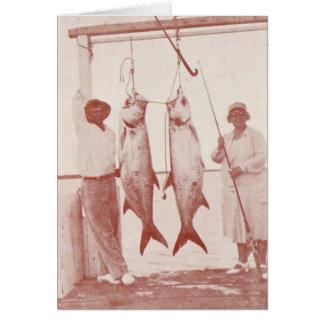Angler mit Tarpons, Marco Insel, Florida, Dreißige Karte