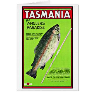 Angler-Paradies-Fischen Tasmaniens Australien Grußkarte