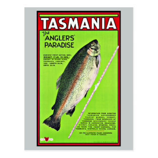 Angler-Paradies-Fischen Tasmaniens Australien Postkarten