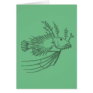 Anglerfishgrußkarte Grußkarte