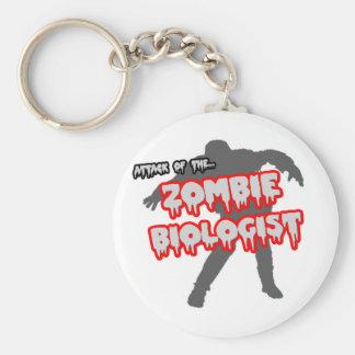 Angriff des Zombie-Biologen Standard Runder Schlüsselanhänger