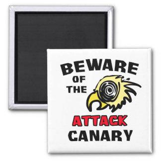 Angriffs-Kanarienvogel Quadratischer Magnet