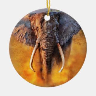 Angry Elephant Keramik Ornament
