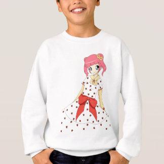 Anime-Erdbeerkleidermädchen Sweatshirt