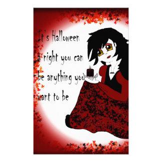 Anime-kleines Mädchen-Vampir Briefpapier