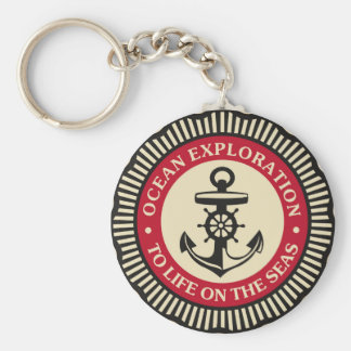 """Anker 2,25"""" grundlegender Knopf Keychain Schlüsselanhänger"""