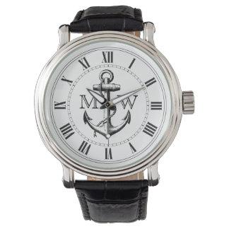 Anker, Seemonogramm Armbanduhr