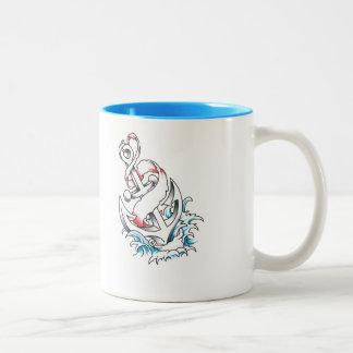 Anker-Tasse Zweifarbige Tasse