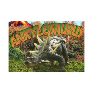 Ankylosaurus-Dinosaurier-Park-Vegetation und Galerie Faltleinwand