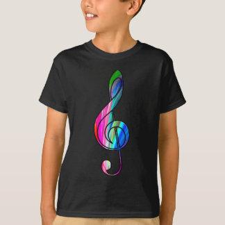 Anmerkung des dreifachen Clef im color_ T-Shirt