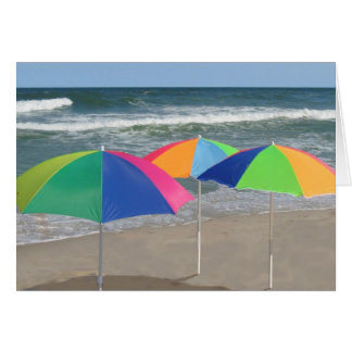 Anmerkungskarte mit drei Regenschirmen Karte