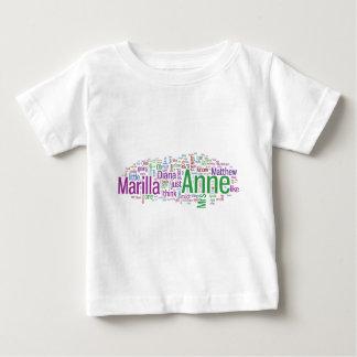Anne der grünen Giebel-Wort-Wolke Baby T-shirt