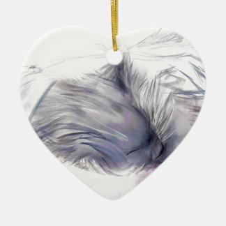 Annie zuerst und letzte Tage Keramik Herz-Ornament