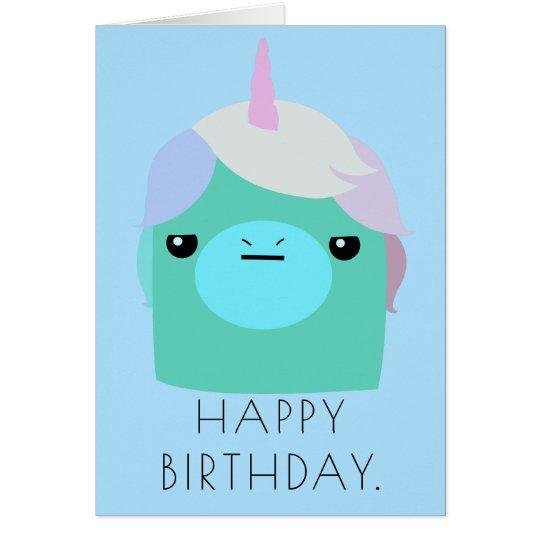 Annoyed Unicorn Birthday Card Karte