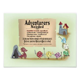 Anruf zum Abenteuer Fotodruck