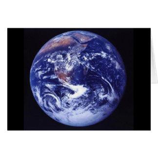 Ansicht Apollo 17 von Erde im Raum Karte