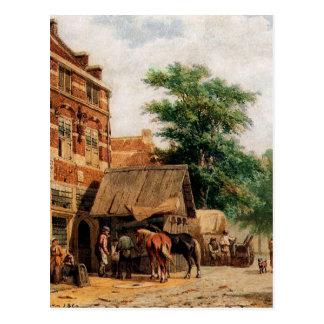 Ansicht bei Culemborg durch Cornelis-Springer Postkarte