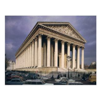 Ansicht der Fassade von La Madeleine Postkarte