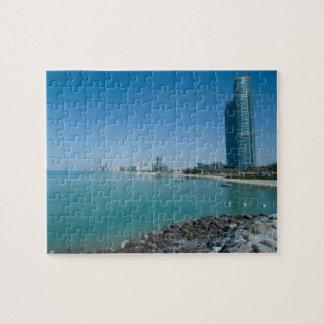 Ansicht der hohen modernen Wolkenkratzer, Gebäude Puzzle
