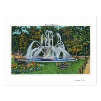 Ansicht des Erinnerungsbrunnens, Vassar Uni Postkarte