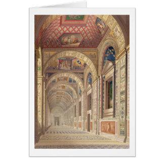 Ansicht des zweiter Stock Loggia in Vatikan, wi Grußkarte