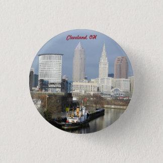 Ansicht-Knopf Clevelands, der Ohio Runder Button 3,2 Cm