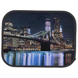 Ansicht New York der Brooklyn-Brückenreflexion Automatte