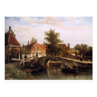 Ansicht über Enkhuizen durch Cornelis-Springer Postkarte
