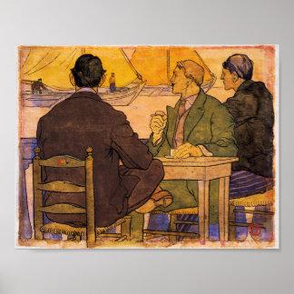Ansicht vom Café Poster