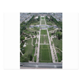 Ansicht vom Eiffelturm, Paris, Frankreich Postkarte